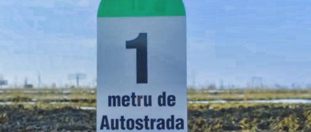Mesajul românului care a construit singur un metru de autostradă în Moldova